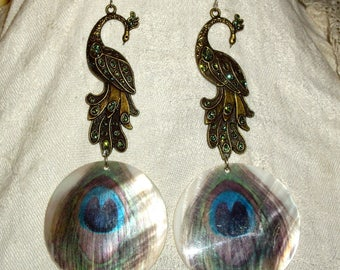 Spirit Art nouveau Peacock earrings