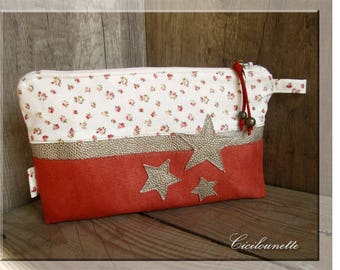 Trendy suede pouch and liberty