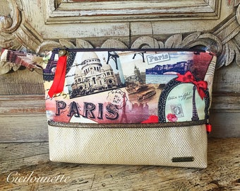 Faux gold and fabric Paris Kit