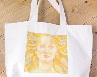 Cotton bag // Carrie bag // Shopping bag // Solid fabric // Sac en coton // Sac cabas // Sac de courses