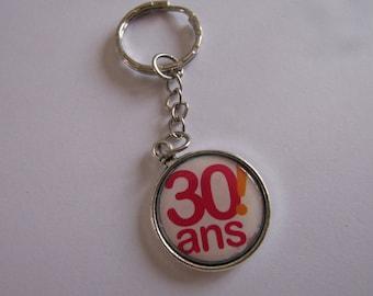 CLEARANCE 30 silver keychain