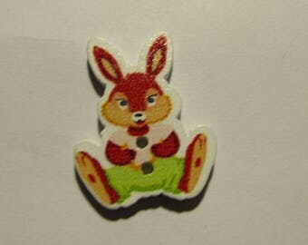 wooden rabbit 28mmx22mm scrapbooking assorted colors to choose