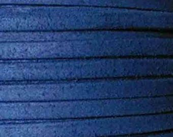 20 cm leather 5mm flat suede blue