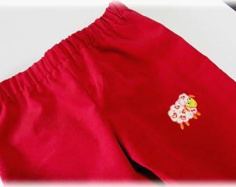 Pants elastic red corduroy - 3 years