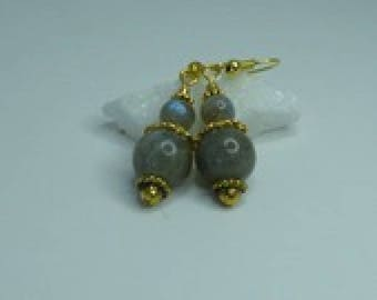 Labradorite very pretty dangle earrings labradorite stone