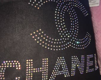 Chanel pillow 40 x 40 Cotton removable rhinestone 2