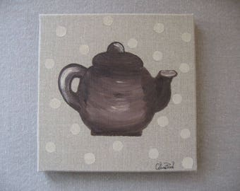 Free shipping! teapot painting with dots