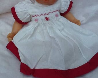 Doll clothes, two-tone long dress, doll 30 cm