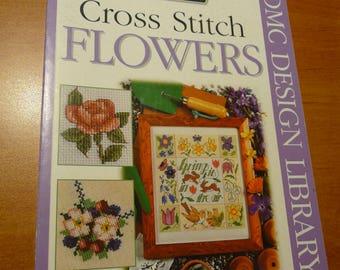 CROSS STITCH flowers -  number 5  - DMC creative world - 2002 - 100 designs