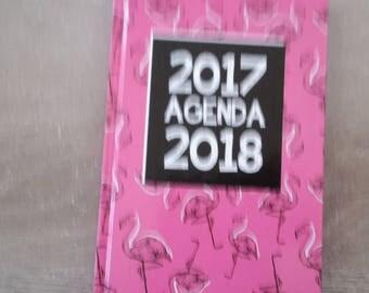 Calendar 2017 2018 Flamingo Pink