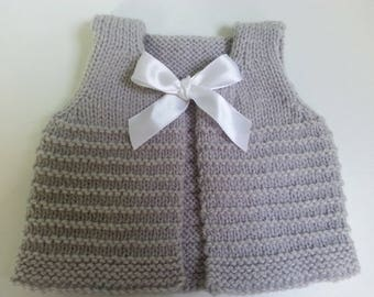 Vest of gray donkey from birth to 3 months - baby gifts