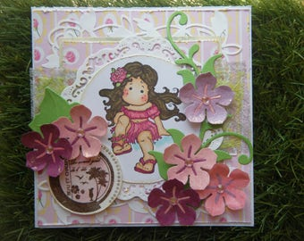 Kit and tutorial for summer with a Magnolia character card