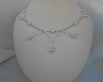 PERLICA necklace with pearl beads