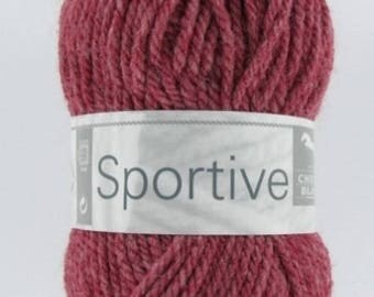Yarn No. 153 sport horse white bordeaux