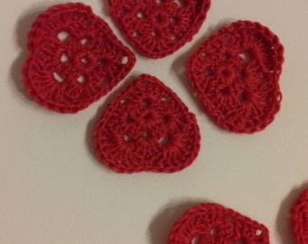 Valentine heart in red cotton for customization