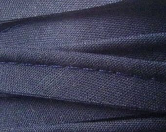 Navy Blue / plain cotton piping 10mm wide, cut 50 cm