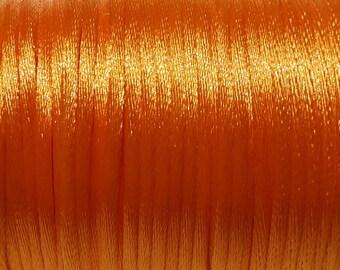 2mm Satin cord Orange (5 m)