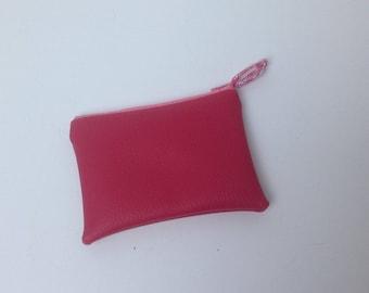 RETRO purse faux leather fuschia