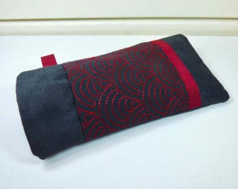 Great glasses case, sunglasses, suede and cotton