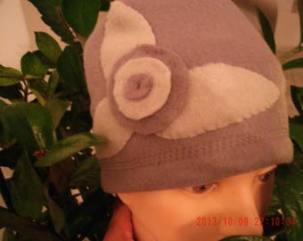 Light and dark grey fleece Cap