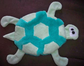 Turtle shaped flat blanket for baby or child