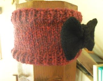 head band Winter headband hand knitted woman