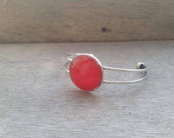 chic dark red Bangle Bracelet
