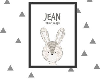 Custom poster rabbit print itself
