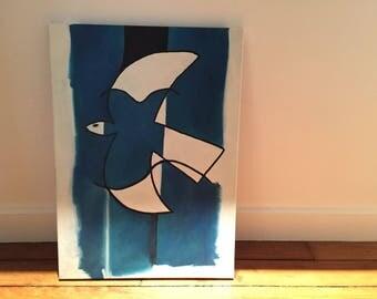 The flight of the Blue Bird, Braque inspiration