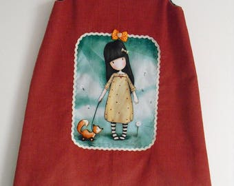 "Cute little winter dress ""Girl"" T 6/7 years"