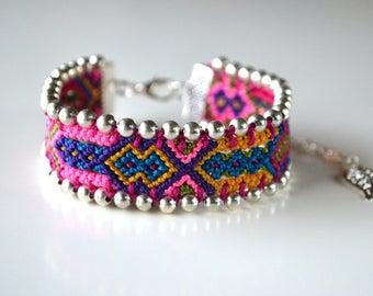 """Friendship bracelet """"Capivari"""" (unique piece) Made in France"""