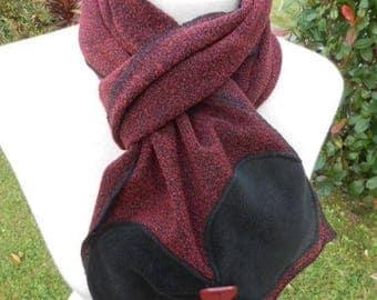 Women winter warm wool scarf shawl linen ' Garnet eva