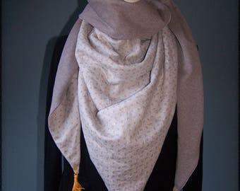 Trendy Gold Pink shawl