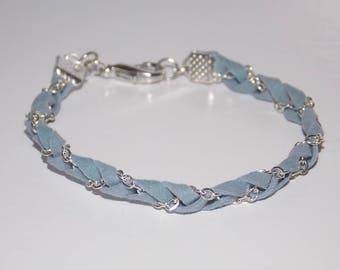 Sky blue or purple braided bracelet