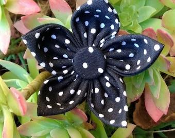 handmade hair clip flower.
