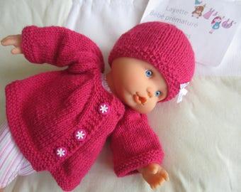 """Fuschia"" premature baby or doll clothes"