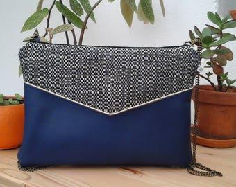 Blue Chacha clutch bag