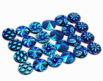 12 12 mm resin cabochons