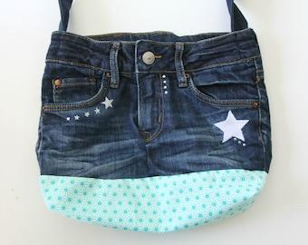 Recycled denim purse: women or teen