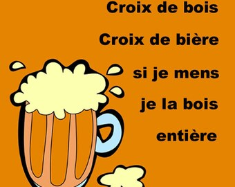 Bottom of glass (luxe) cross from beer I lie I drink full