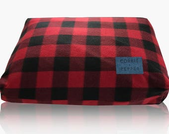 Corkie and Pepper Fleece Dog Bed