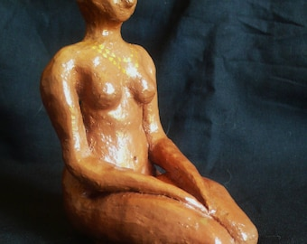 Meditation, Terra cotta, height 17 cm