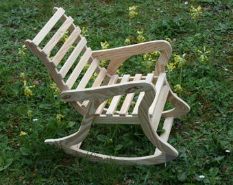 WOODEN KIDS ROCKING CHAIR