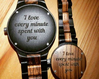 Custom ENGRAVING SERVICE ONLY - Personalized Gifts with Engraving - Add on with watch/pocket watch/flask purchase only!!!