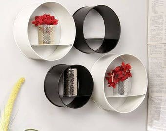 Qesyas Round Wall Shelves set of 4