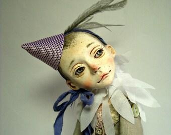 sold. Collectible doll Henri, unique creation, art doll, OOAK art doll, rag doll artist