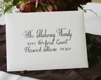 Austin Style Wedding Invitation Calligraphy - Return Address Included