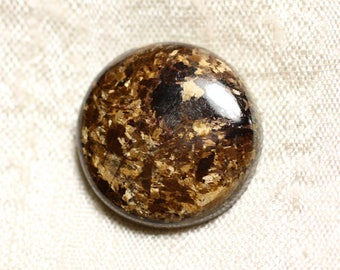 N2 - Cabochon stone - 21mm round Bronzite - 4558550086907