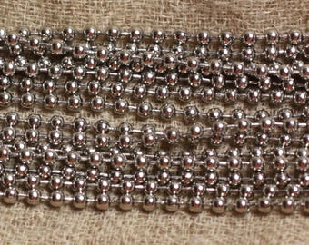 10 meters - beads steel 304 L 2.4 mm ball chain - 4558550006004