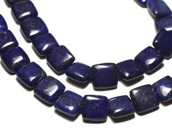 4pc - stone beads - Lapis Lazuli square 12mm - 8741140019843